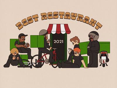 Best Restaurant 2021 deliveroo ubereats uber restaurant illustrator japan adobe illustrator retro illustration