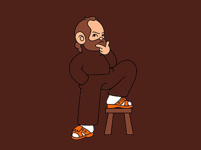 Self Portrait in Brown portrait brown profile illustration selfie