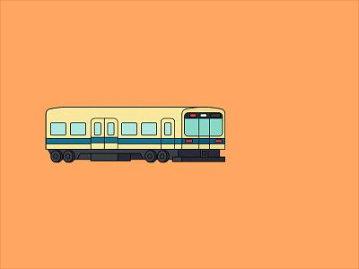 Densha bloodbros animation vector carriage japan illustration tokyo densha train gif sticker