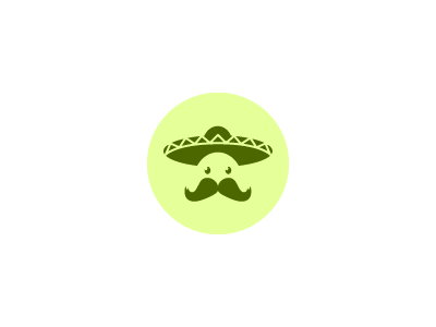 El Mariachi Logo mariachi hat moustache logo brand visual illustrator fireworks graphic green mexico
