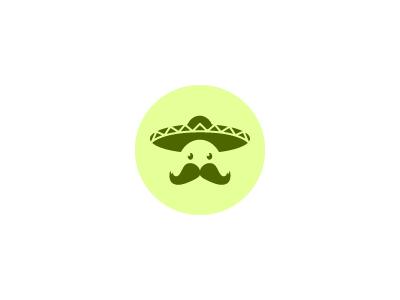 El Mariachi Logo mariachi hat moustache logo brand visual illustrator fireworks graphic green mexico