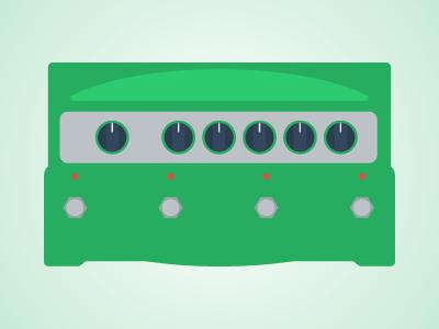Flat Guitar Pedal - Line6 DL4 flat guitar pedal pedalboard vector illustrator music rock