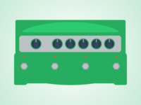 Flat Guitar Pedal - Line6 DL4