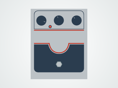 Flat Guitar Pedal - Big Muff flat guitar pedal pedalboard vector illustrator music rock