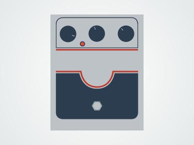 Flat Guitar Pedal - Big Muff flat guitar pedal pedalboard vector illustrator music rock