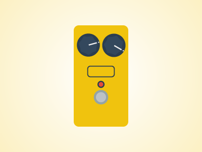 Flat Guitar Pedal - MXR Distortion + illustrator flat guitar music pedal pedalboard rock vector