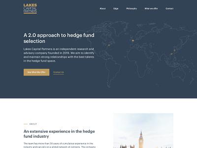 Lakes Capital Partners - Single Page Website minimal simplicity flat ui design single page website