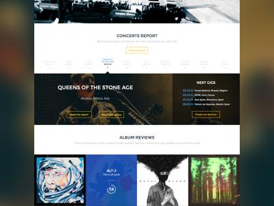 Square ~ Web Interface web sketch music ui ux flat square interface