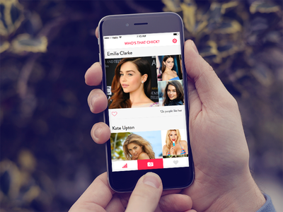 Who's that chick? emily ratajkowski sketch girl woman beautiful chick ios iphone app interface uiux ui