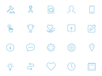 Icons pack pixel precise sketch vector icons icon