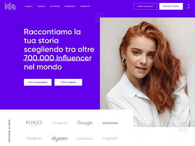 IDA Website vector flat marketing big font vibrant colors big picture ui  ux design influencer website ux design ui design