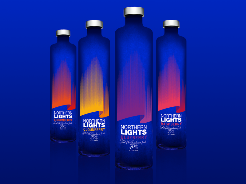 Northern Lights Packaging typography package design branding