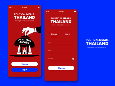 UI / UX for Political Meal. App ( Daily UI Challenge )