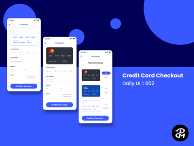 UX / UI for Credit Card Checkout ( Daily UI Challenge )
