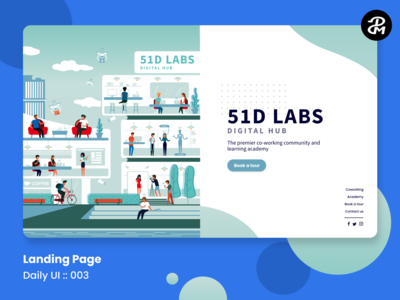UX / UI for Landing Page ( Daily UI Challenge )
