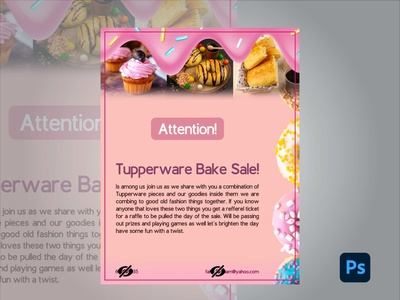 Tupperware Bake Sale design branding flyers flyer artwork adobe photoshop adobe kingtharu