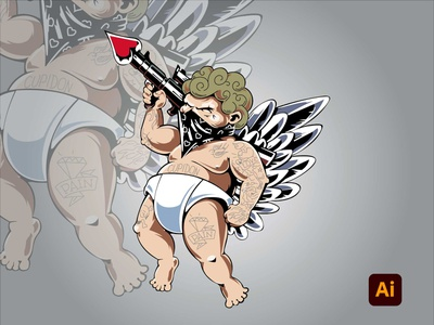 Cupidon vector drawing adobe illustrator illustration degital drawing artwork adobe photoshop digital art design art adobe kingtharu