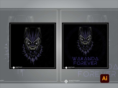 Rest In Peace Black Panther illustration adobe illustrator degital drawing artwork adobe photoshop digital art design art adobe kingtharu