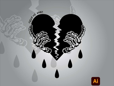 Broken Heart adobe photoshop artwork degital drawing illustration adobe illustrator digital art design art adobe kingtharu