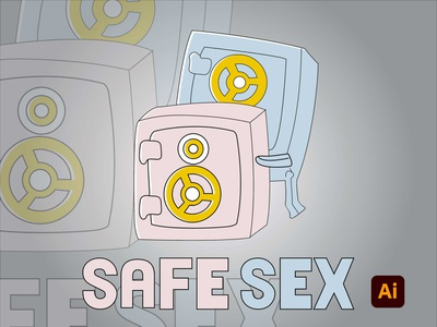 Safe sex vector degital drawing drawing illustration adobe illustrator digital art design art adobe kingtharu
