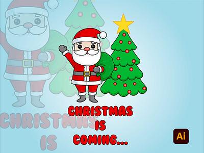 Christmas is coming... art artwork vector illustration adobe illustrator degital drawing digital art design adobe kingtharu