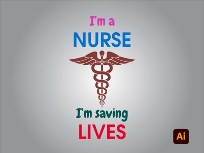 I'm a nurse branding vector drawing illustration adobe illustrator artwork degital drawing digital art adobe kingtharu