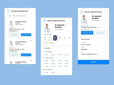 Doctor Appoinment App Designs
