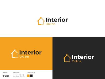 Interior Design Logo house house logo interior logo home logo home icon logo app icon ux ui branding design illustration logo design brand identity