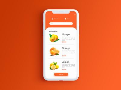 Orange App UI design