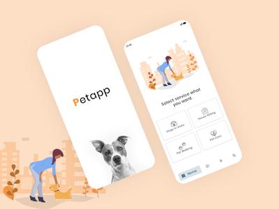 Pet app UI UX design