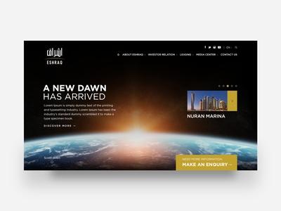 Eshraq Website UI/UX