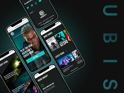 Ubisoft. Game store assassins creed ubisoft gaming game site web design design web-design ux mobile concept minimalism graphic design ui