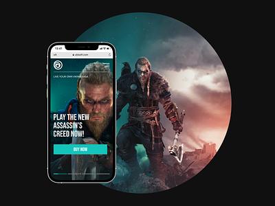 Ubisoft. Game. Redesign mobile assassins creed web design web ubisoft gaming game design web-design ux mobile concept minimalism graphic design ui