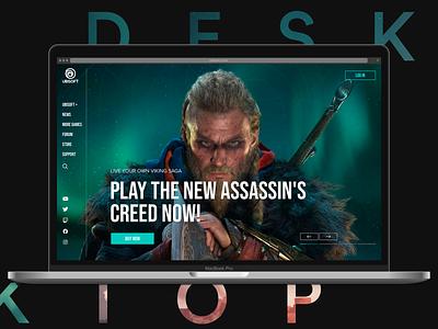 Ubisoft. Game assassins creed ubisoft web design web site gaming game design web-design ux mobile concept minimalism graphic design ui