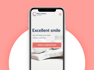 Dental Clinic. Web design graphic design teeth stomatology site web medical dentistry dental clinic design web-design ux mobile concept minimalism ui