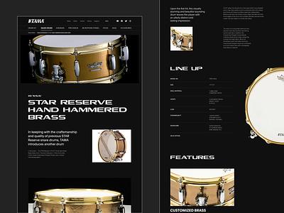 Snare Drums. UX/UI. Tama music snare drums interection drums drum tama shop store web site design web-design ux mobile concept minimalism branding graphic design ui