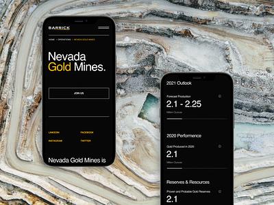 Gold Corporation. Mobile digital gold mining mobile interaction company corporation gold corporation gold uxui web graphic design web-design ui ux design concept minimalism