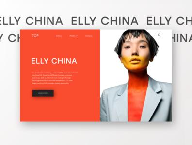 Web design concept page (model agency)