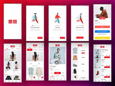 Redesign Design Mobile App  ( Uniqlo Indonesia ) fashion inspiration ui ux inspiration design inspiration redesign uniqlo fashion shop fashion design e-commerce shop shopping e-commerce design app design mobile app mobile ui online shop figma uiux uidesign ui