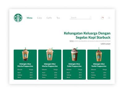 UI UX Design Website Starbuck Indonesia design website web design website design ux uiux online shop ui uidesign figma design app app