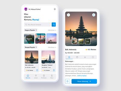 UI & UX Design For Traveling Mobile Apps motion graphics graphic design animation 3d logo illustration online shop uidesign app branding ui design mobile app design app figma