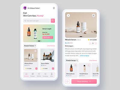 UI Design Beauty Shop Mobile Apps illustration graphic design animation 3d logo design mobile app uidesign ui online shop figma design app app