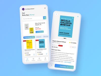 UI UX Design Books Store illustration logo design ui mobile app uidesign online shop figma design app app