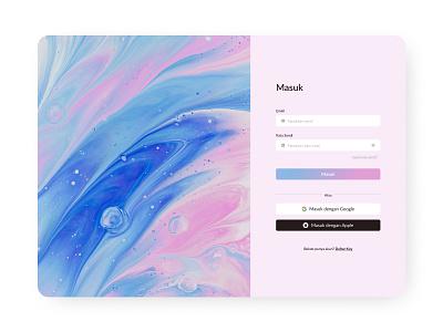 Sign In/Sign Up Website Design design trend 2021 e-commerce design color inspiration color art figma ux inspiration ui inspiration masuk daftar design inspiration website inspiration web website design ux design ui design