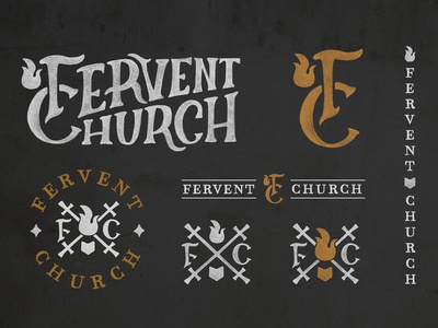 Fervent Church Logo and Identity Elements