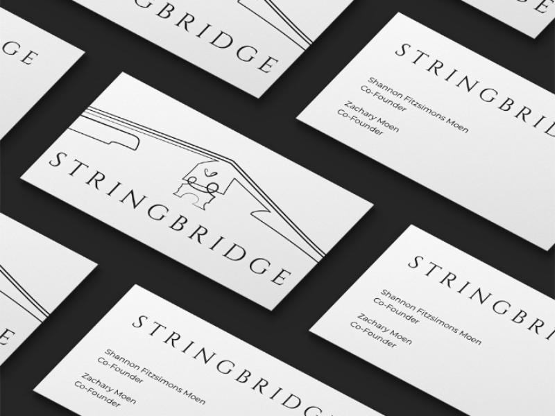 Logo design for StringBridge - Michigan violin stringbridge tipografia stringed instruments print music minimal logo illustration design custom logo branding
