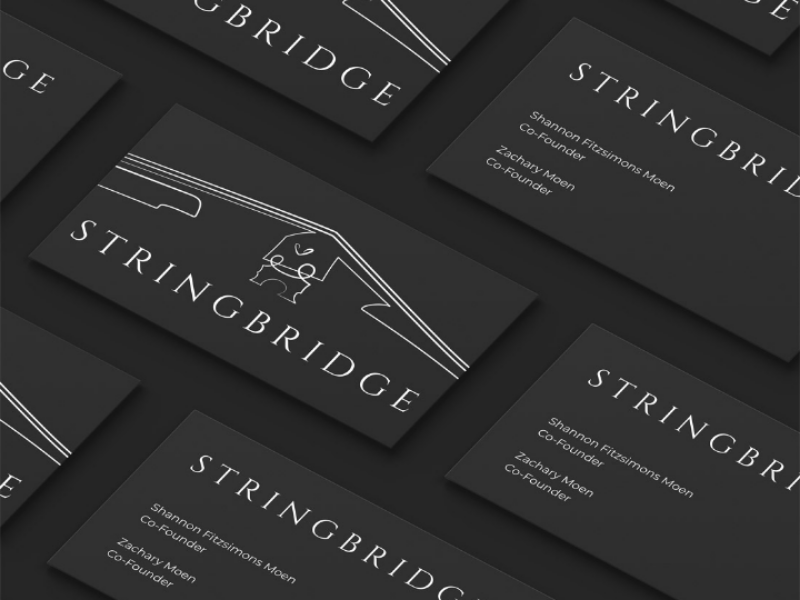 Logo design for StringBridge - Michigan stringbridge violin tipografia stringed instruments print music minimal logo illustration design custom logo branding