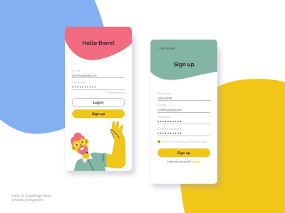 Daily UI #001 Sign Up ui design sign up ui sign up mobile ui mobile app dailyuichallenge dailyui 001 dailyui web ui figma design