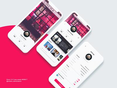 Daily UI #006-7 User Profile and Settings unsplash uidesign dailyuichallenge dailyui web ui figma design
