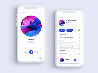 Daily UI #009 Music Player music player music uidesign dailyuichallenge dailyui web ui figma design